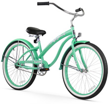 firmstrong bella classic mint green beach cruiser bicycle