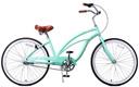 fito-marina women cruiser bike mint green bike