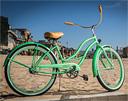 jbikes chloe womens mint green beach cruiser
