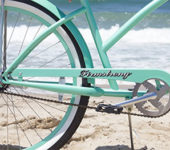 mint green beach cruiser bike