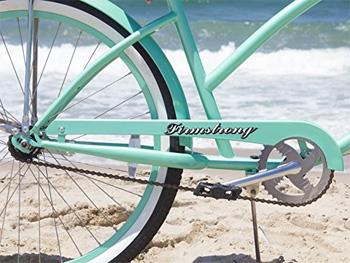 mint green beach cruiser bike