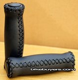 velo leather cruiser bike grips